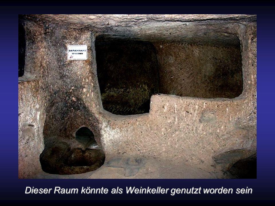 Es konnte nachwiesen werden, dass es da nicht nur Wohnungen gab, sondern auch Speisesääle, Kreuzkirchen mit 20 mal 9 Meter Durchmesser und die Decke d