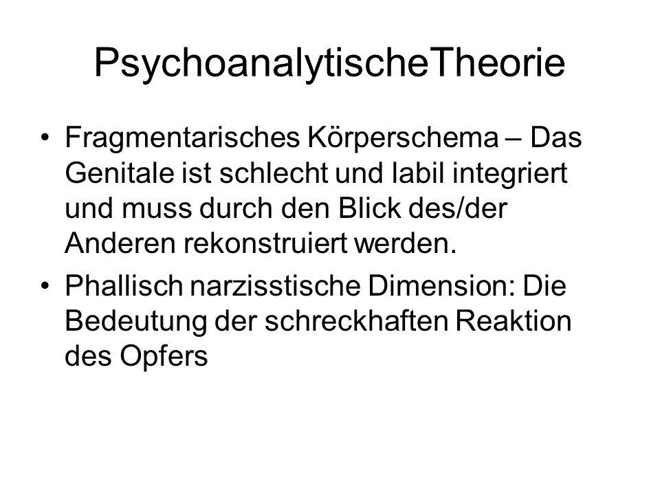 PsychoanalytischeTheorie Fragmentarisches Körperschema – Das Genitale ist schlecht und labil integriert und muss durch den Blick des/der Anderen rekon