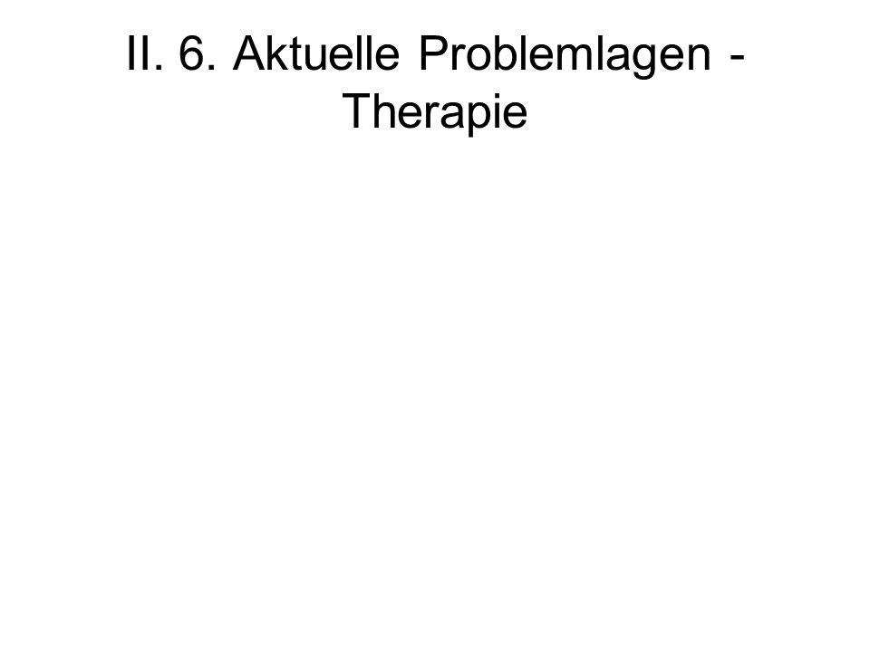 II. 6. Aktuelle Problemlagen - Therapie