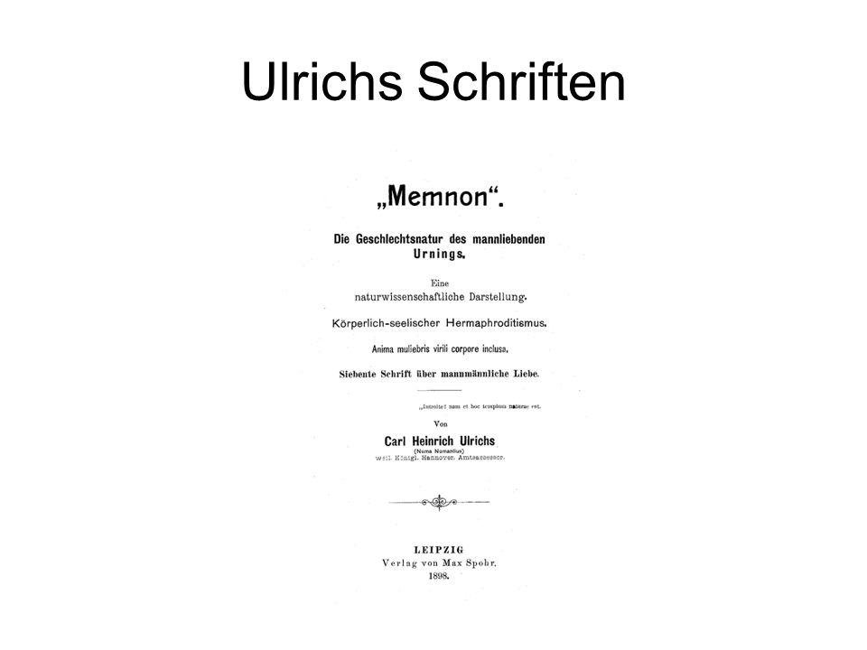 Ulrichs Schriften