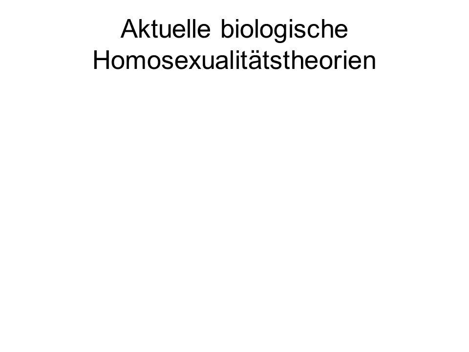 Aktuelle biologische Homosexualitätstheorien