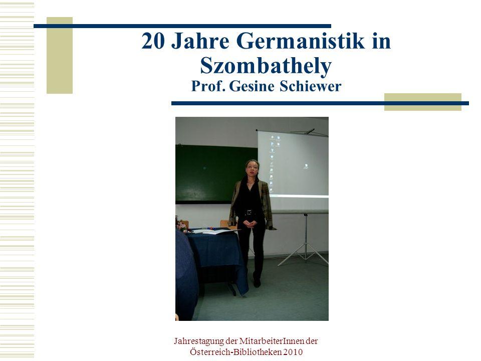 Jahrestagung der MitarbeiterInnen der Österreich-Bibliotheken 2010 Herzlichen Dank für Ihre Aufmerksamkeit!