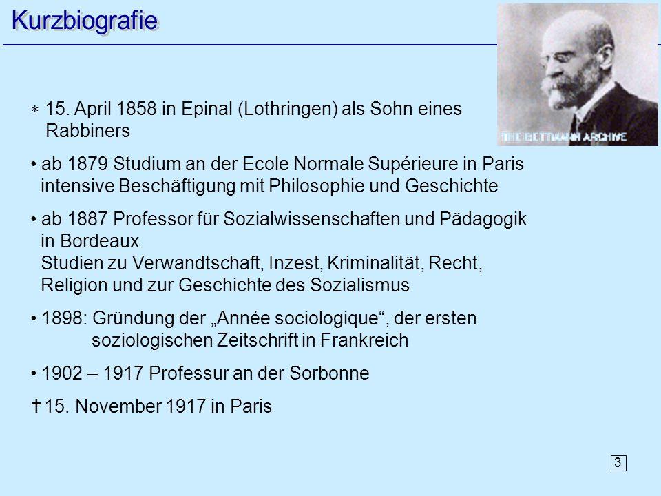 3 15. April 1858 in Epinal (Lothringen) als Sohn eines Rabbiners ab 1879 Studium an der Ecole Normale Supérieure in Paris intensive Beschäftigung mit