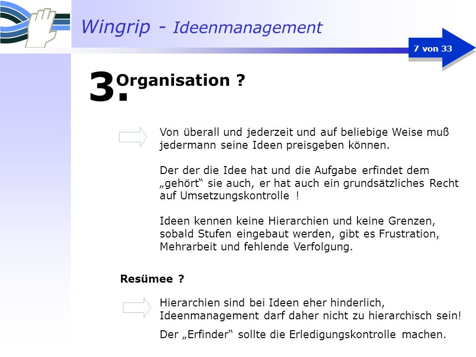 Wingrip - Ideenmanagement 7 von 33 3.
