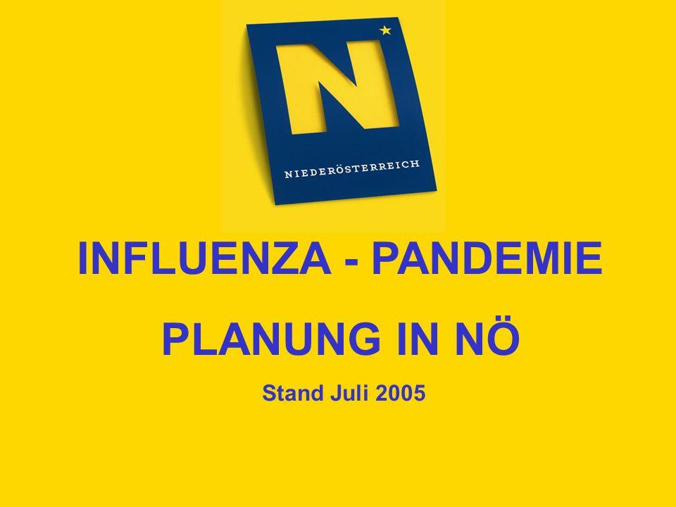 INFLUENZA - PANDEMIE PLANUNG IN NÖ Stand Juli 2005