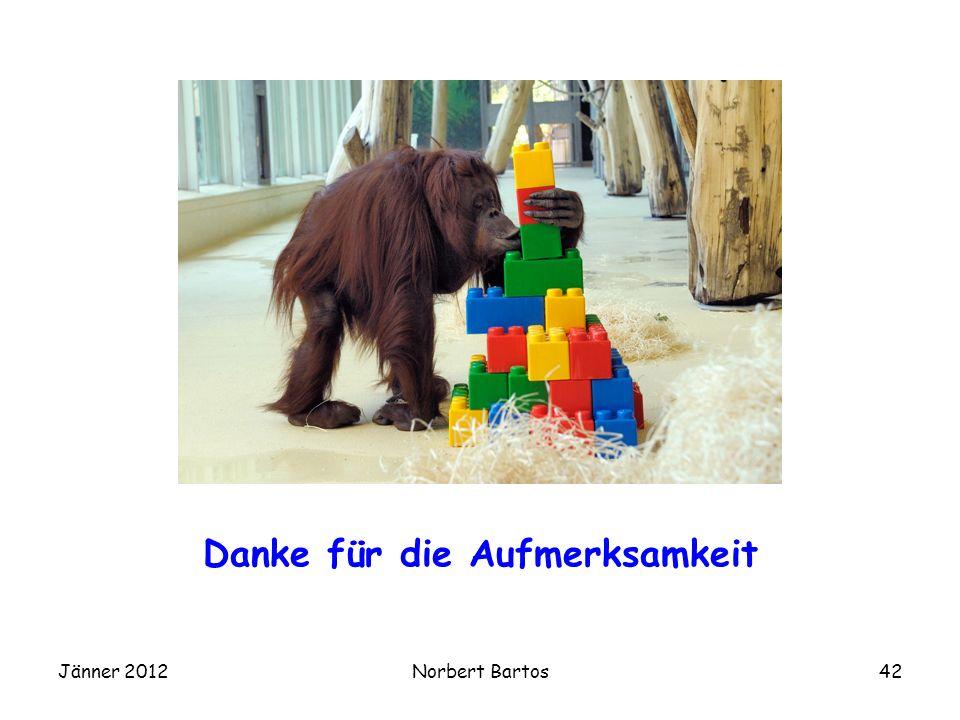 Jänner 2012Norbert Bartos42 Danke für die Aufmerksamkeit