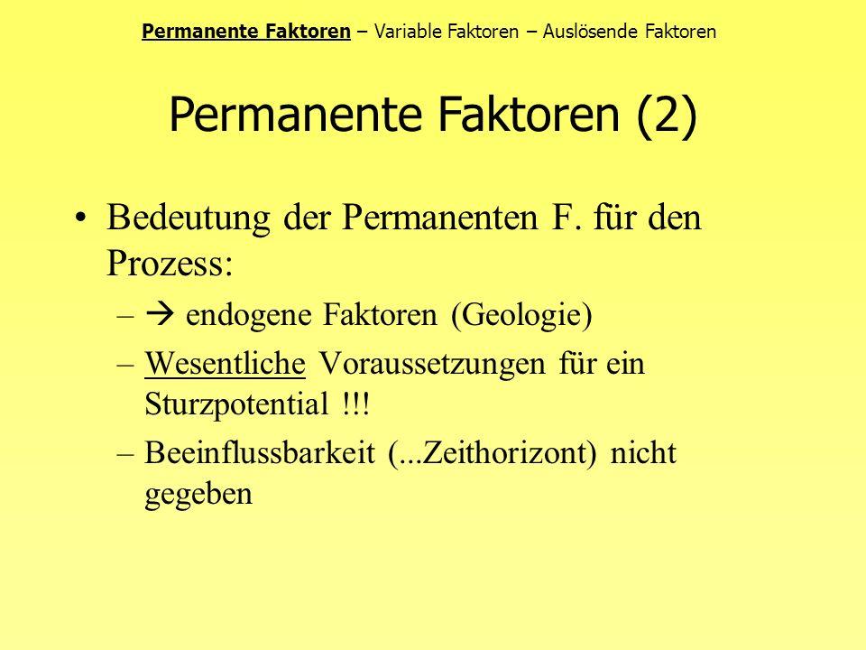 Geologie –Kontinentaldrift: durch GC nicht beeinflussbar –(Gravitativer) Stress: Stressausgleichsbewegungen des Gesteins aufgrund von...