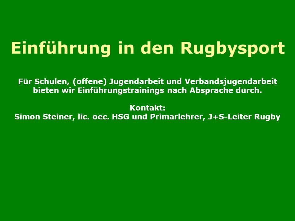 Einführung in den Rugbysport Für Schulen, (offene) Jugendarbeit und Verbandsjugendarbeit bieten wir Einführungstrainings nach Absprache durch.