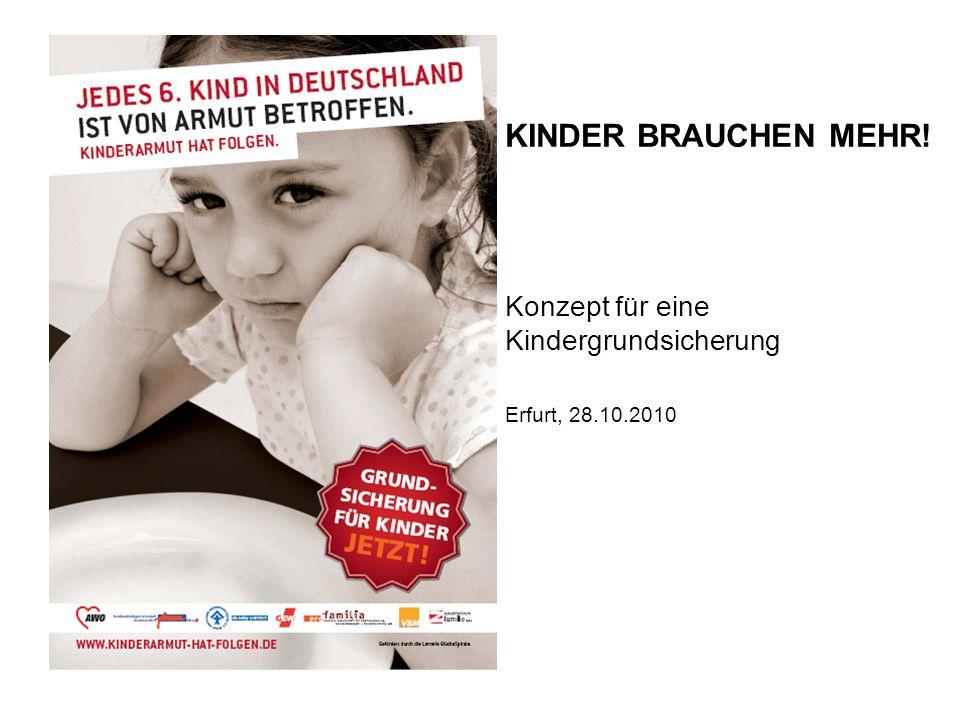 KINDER BRAUCHEN MEHR! Konzept für eine Kindergrundsicherung Erfurt, 28.10.2010