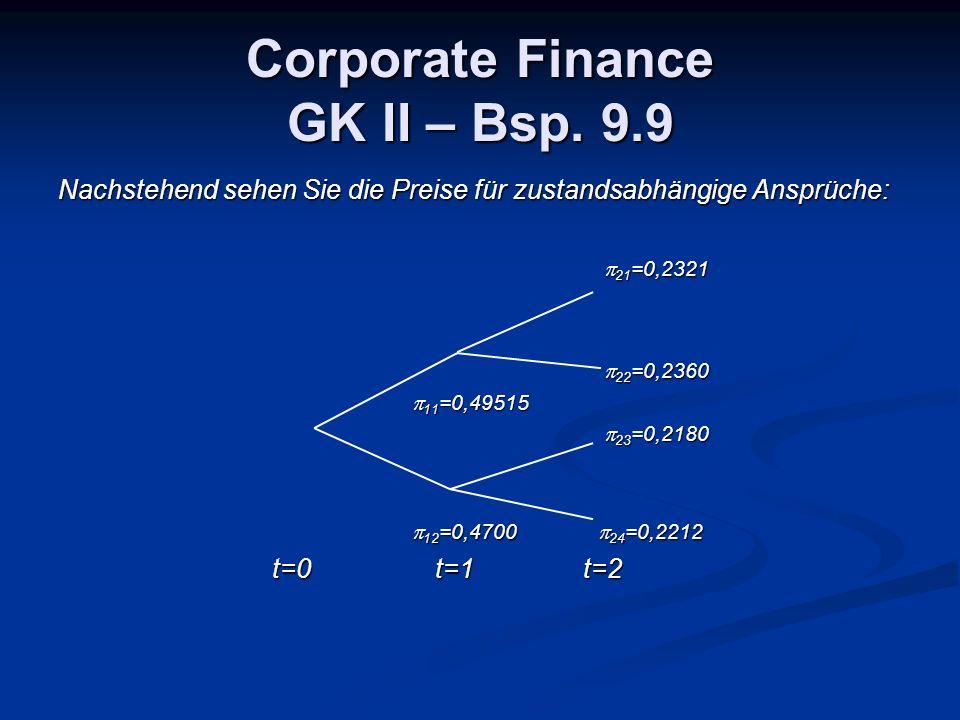 Corporate Finance GK II – Bsp.