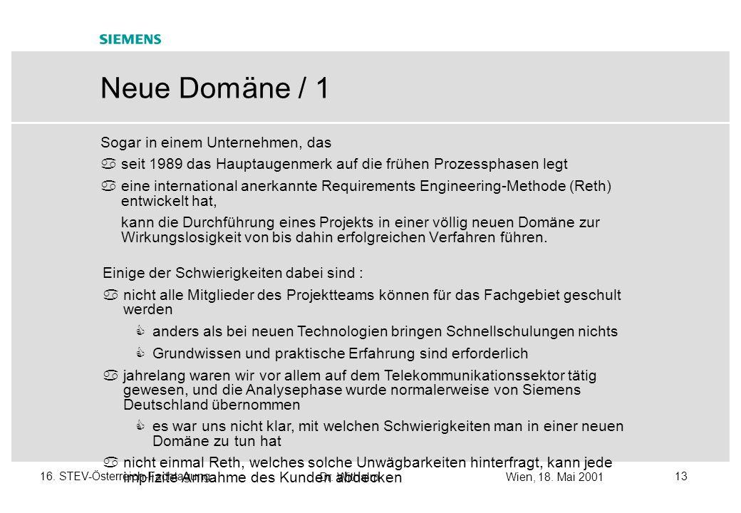 Dr. WithalmWien, 18. Mai 2001 1216. STEV-Österreich-Fachtagung Neue Geschäftsstrategien mit Schwerpunkt auf QS - Überblick Siemens/PSE-Umfeld euroSTAR