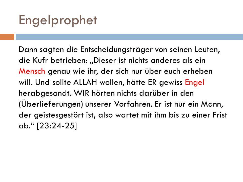Indizien für Maryams Prophetenschaft III.