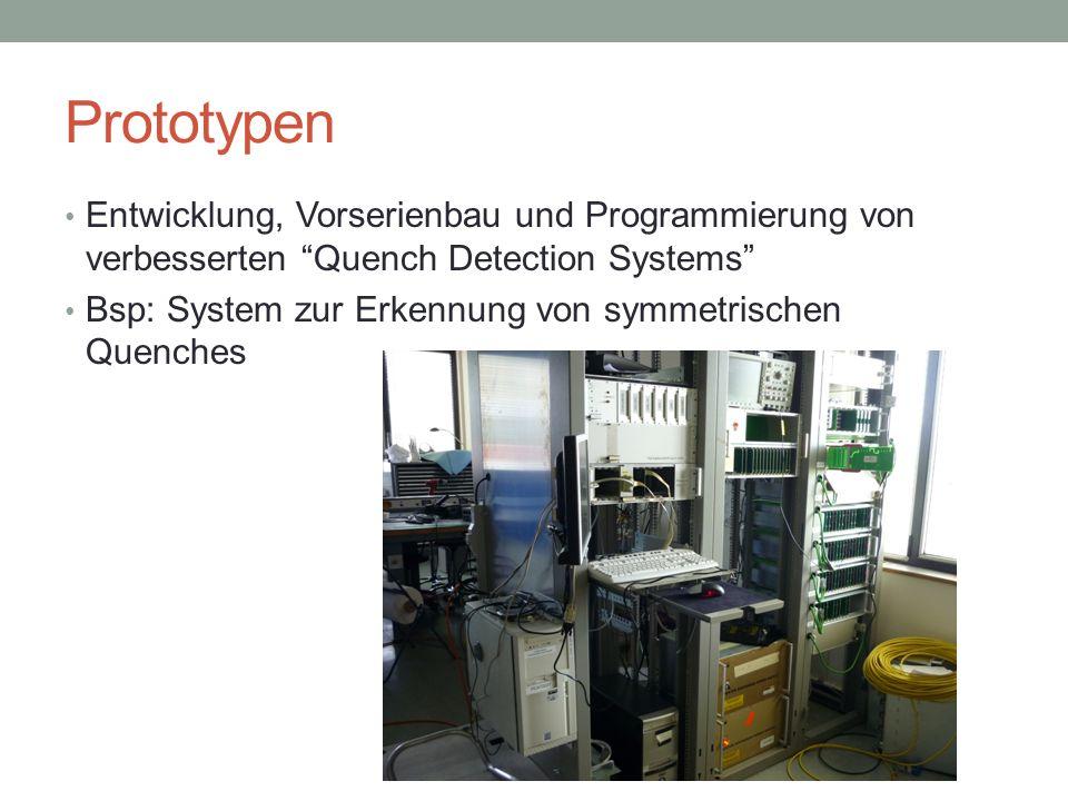 Prototypen Entwicklung, Vorserienbau und Programmierung von verbesserten Quench Detection Systems Bsp: System zur Erkennung von symmetrischen Quenches