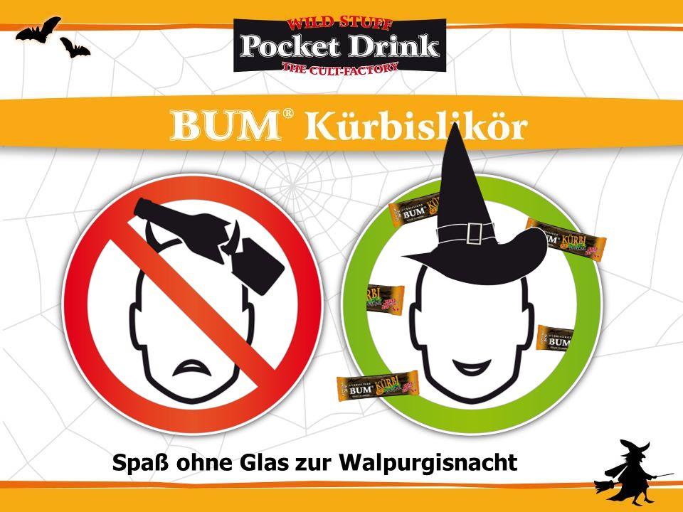 Kürbi – der kultige Hexendrink - OHNE GLAS - aus dem Beutel Allzeit trinkbereit – leicht, überall mitzunehmen Easy Handling: KEIN GLAS– einfache Entso