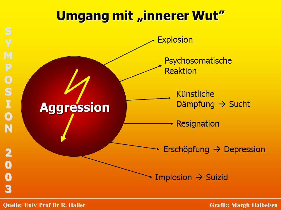 Umgang mit innerer Wut Aggression Explosion Psychosomatische Reaktion Künstliche Dämpfung Sucht Resignation Erschöpfung Depression Implosion Suizid SY