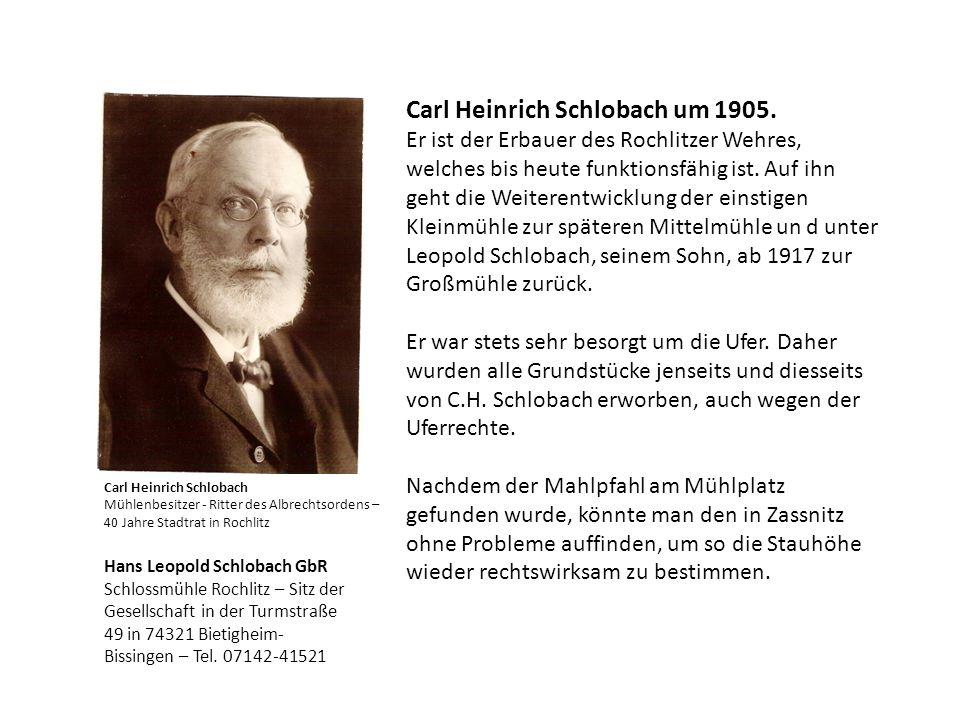 Carl Heinrich Schlobach um 1905.