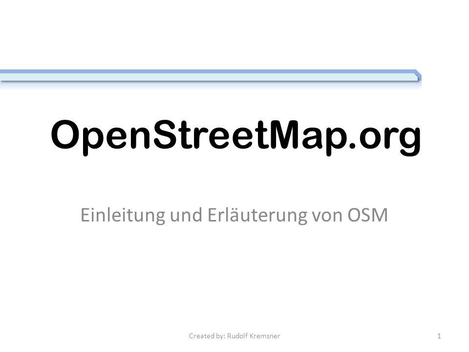 OpenStreetMap Was verbirgt sich dahinter.Was ist der Zweck.