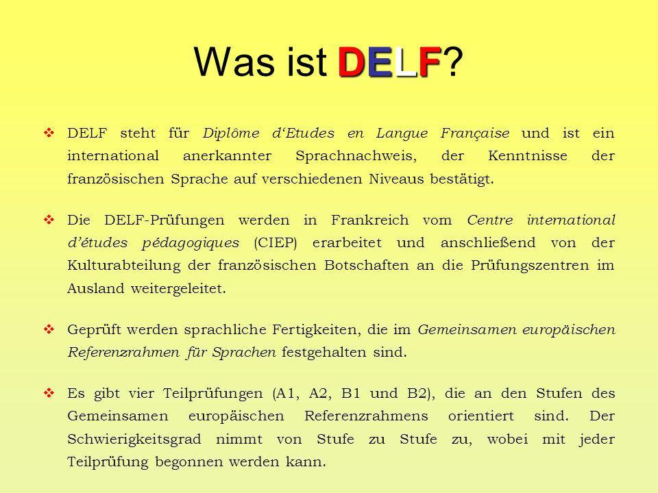 DELF Welche Vorteile bietet DELF.