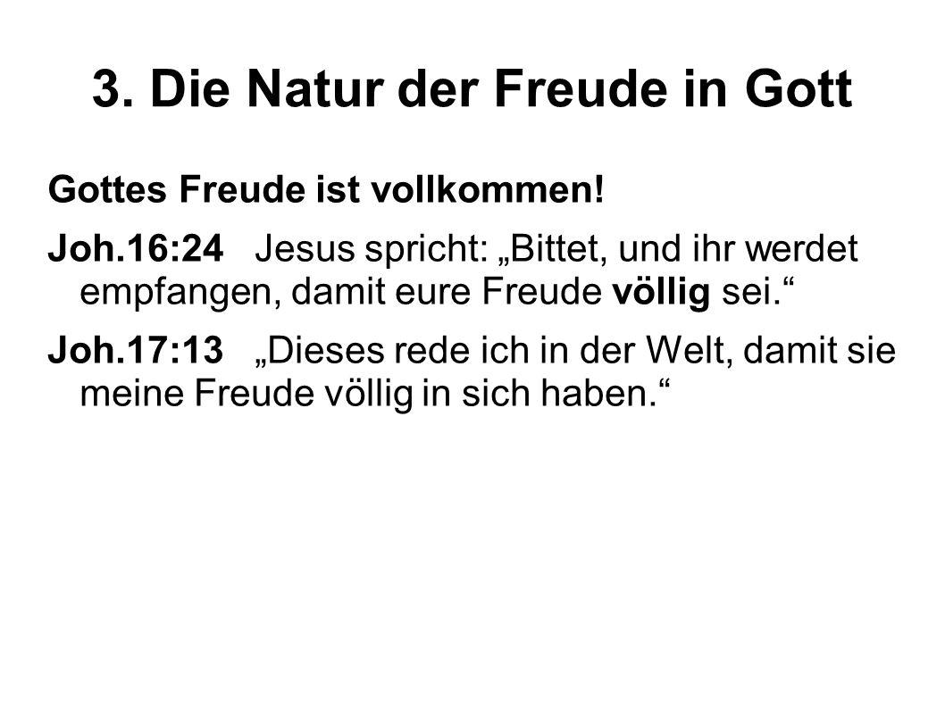 3.Die Natur der Freude in Gott Gottes Freude ist ein Teil von Dir.