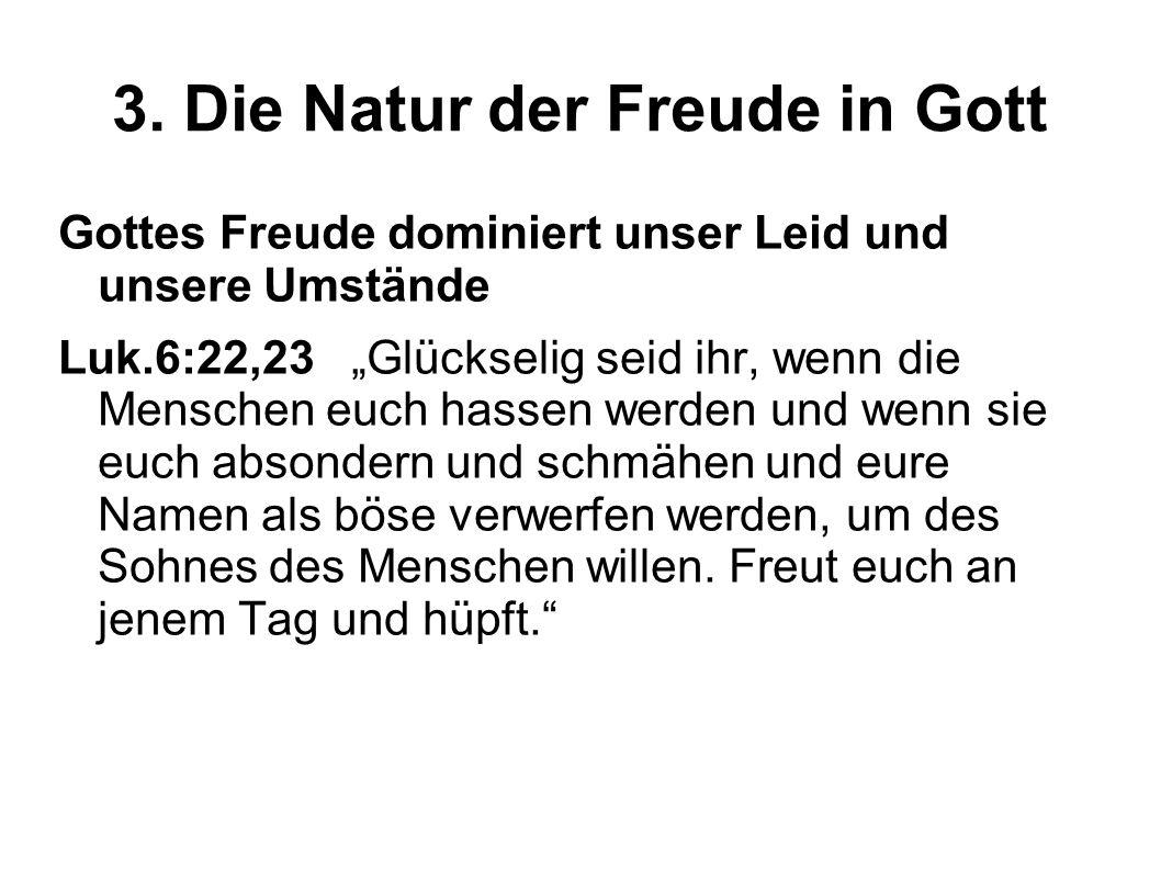 3.Die Natur der Freude in Gott Gottes Freude ist Stärke.