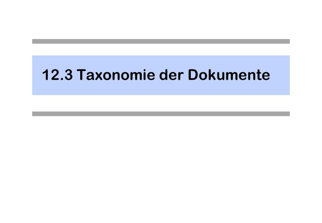 12.3Taxonomie der Dokumente