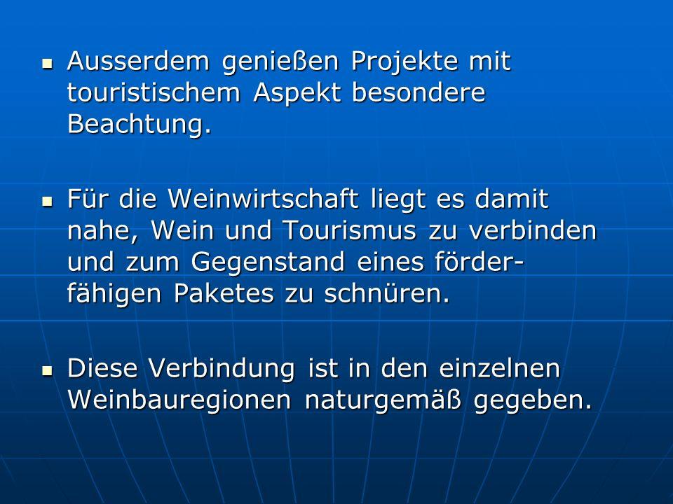Ausserdem genießen Projekte mit touristischem Aspekt besondere Beachtung. Ausserdem genießen Projekte mit touristischem Aspekt besondere Beachtung. Fü