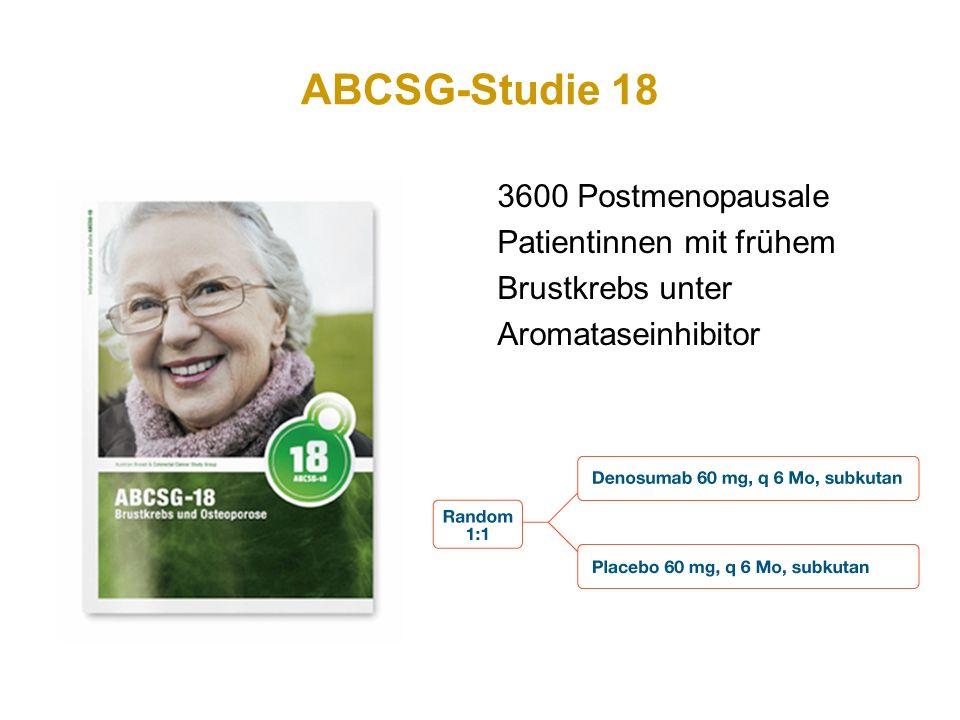 ABCSG-Studie 18 3600 Postmenopausale Patientinnen mit frühem Brustkrebs unter Aromataseinhibitor
