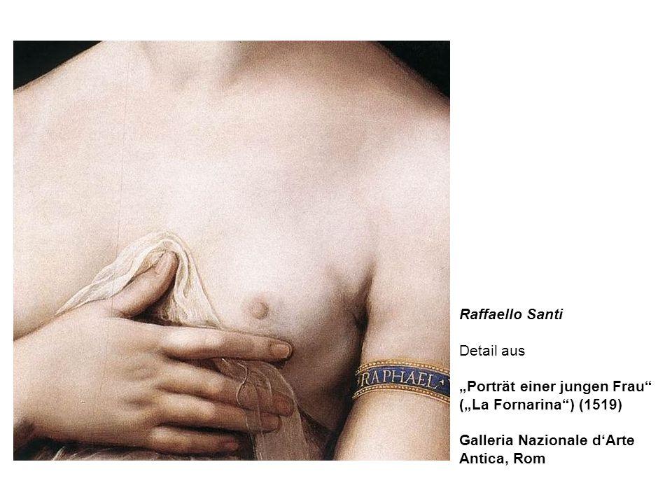 Raffaello Santi Detail aus Porträt einer jungen Frau (La Fornarina) (1519) Galleria Nazionale dArte Antica, Rom
