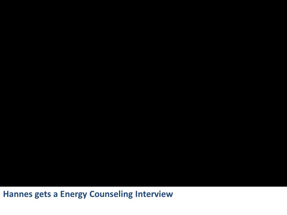 Hannes gets a Energy Counseling Interview