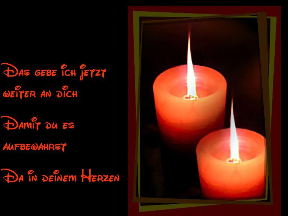 Das eine kleine Licht Das in mein Herz anwesend ist, Das kleine Licht von Hoffnung und Freundschaft Licht