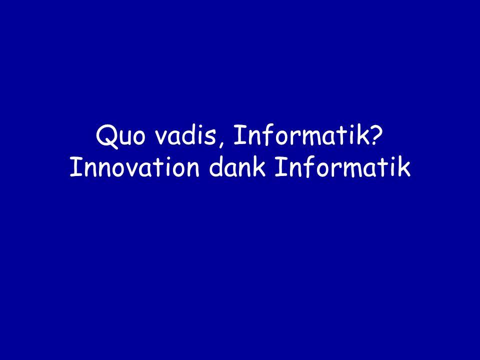 Quo vadis, Informatik Innovation dank Informatik