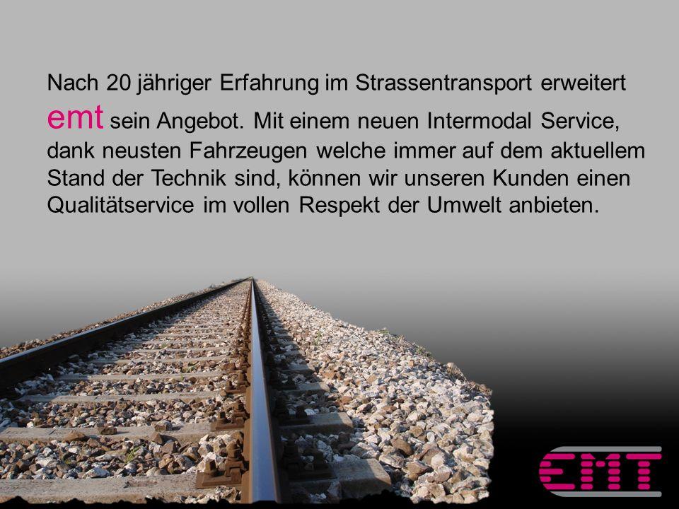 Mit dem Transport auf der Schiene können unerwartete Situazionen im täglichen Strassenverkehr vermieden werden.