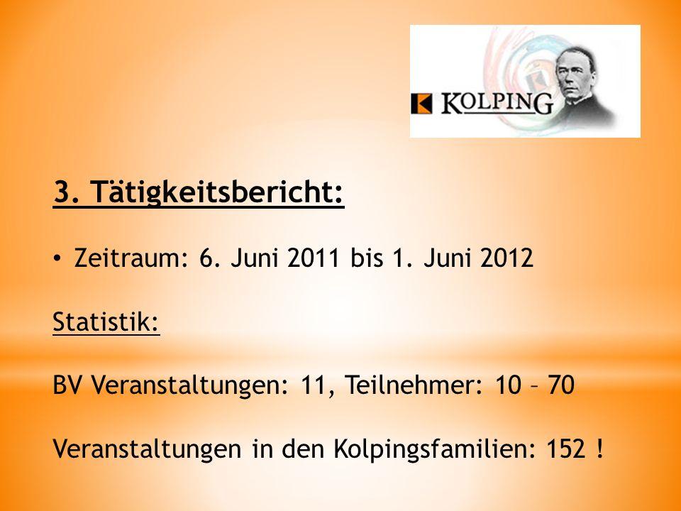 3.Tätigkeitsbericht: Zeitraum: 6. Juni 2011 bis 1.