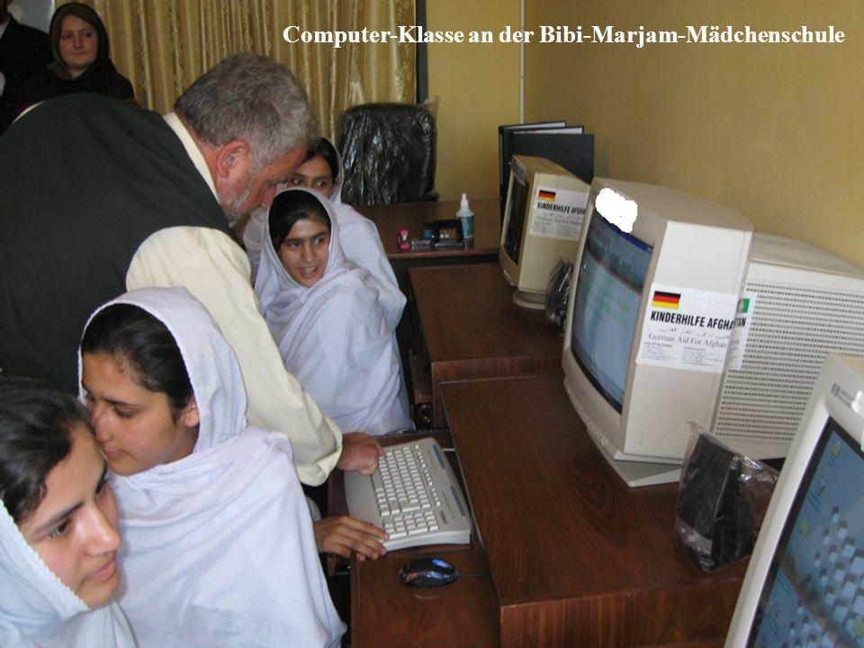 Computer-Klasse an der Bibi-Marjam-Mädchenschule