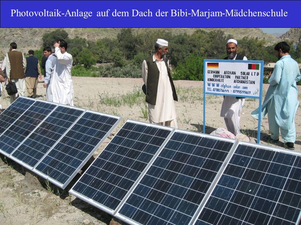 Photovoltaik-Anlage auf dem Dach der Bibi-Marjam-Mädchenschule