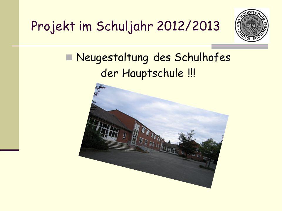Projekt im Schuljahr 2012/2013 Neugestaltung des Schulhofes der Hauptschule !!!