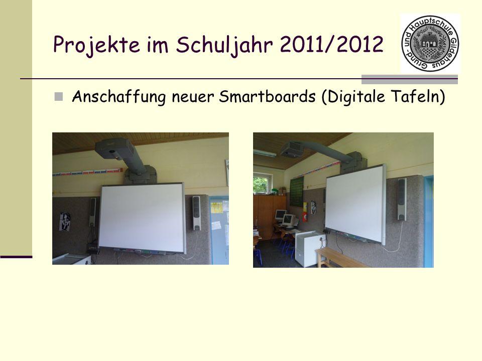 Projekte im Schuljahr 2011/2012 Anschaffung neuer Smartboards (Digitale Tafeln)