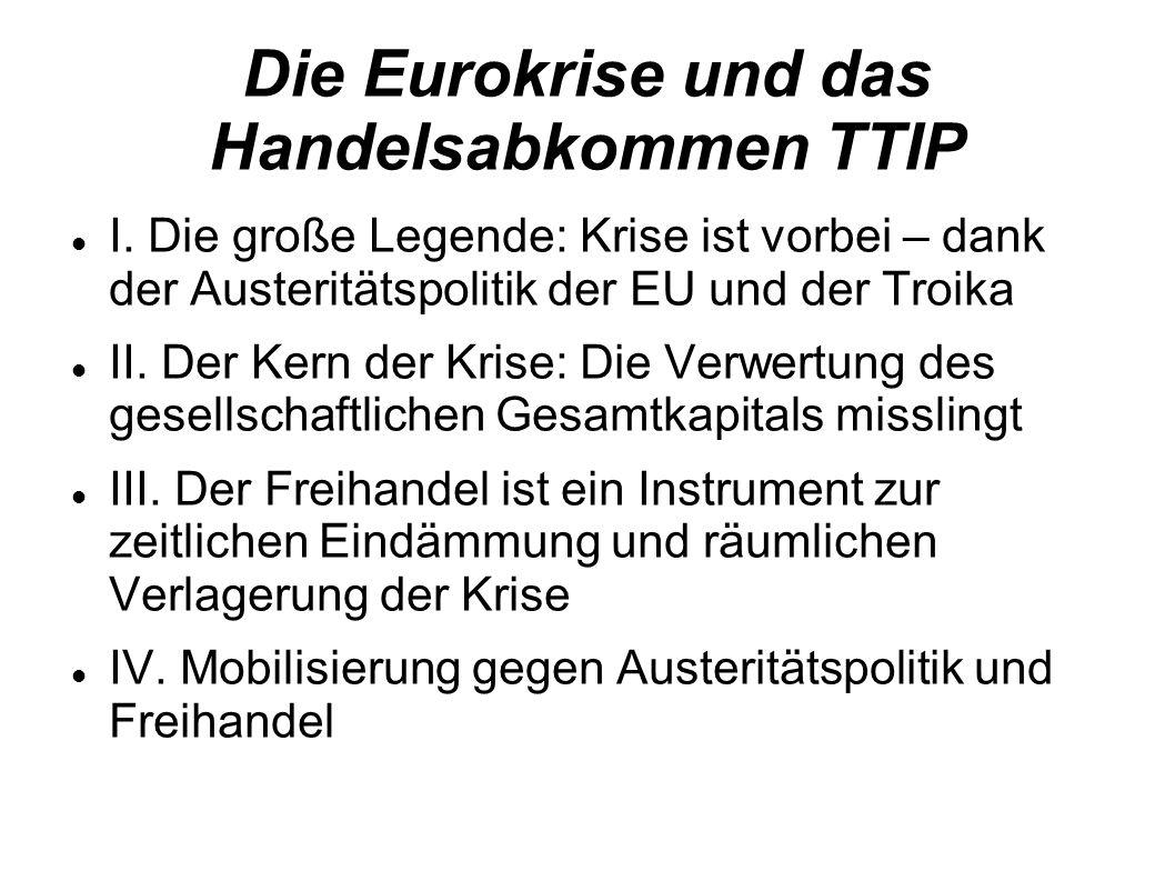 Die Eurokrise und das Handelsabkommen TTIP I.