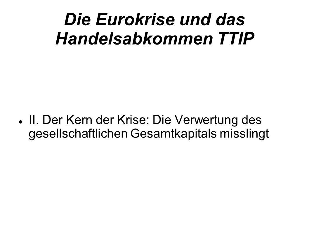 Die Eurokrise und das Handelsabkommen TTIP II.