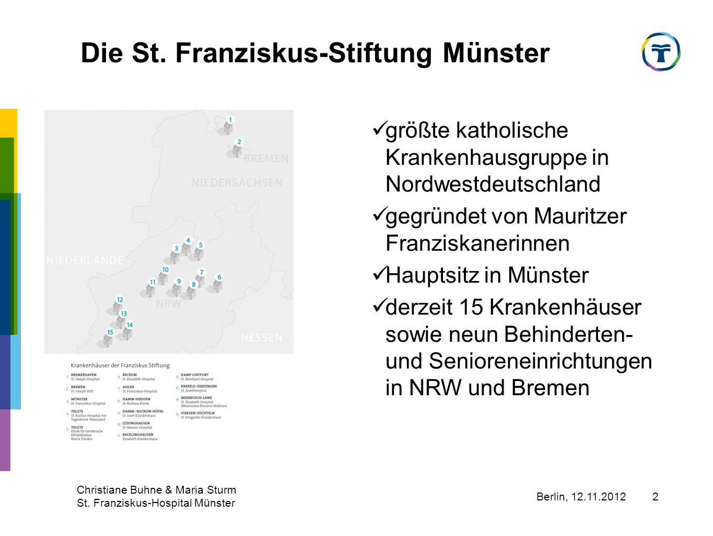 Berlin, 12.11.2012 Christiane Buhne & Maria Sturm St.