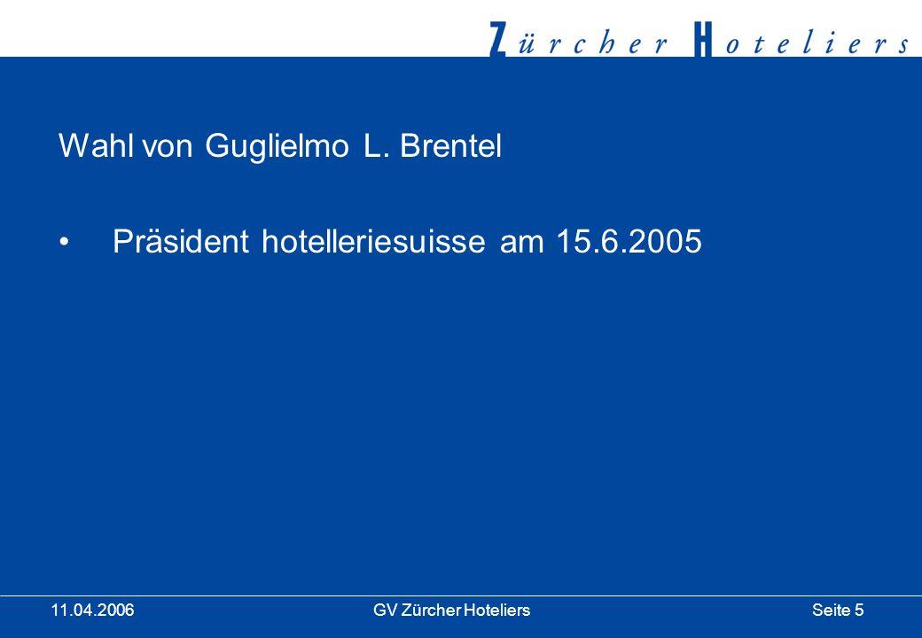 Seite 6GV Zürcher Hoteliers 11.04.2006 Plattform `05 im Hotel Rigiblick Risiko - Chance oder Gefahr.
