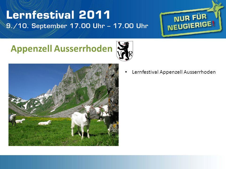Appenzell Ausserrhoden Lernfestival Appenzell Ausserrhoden