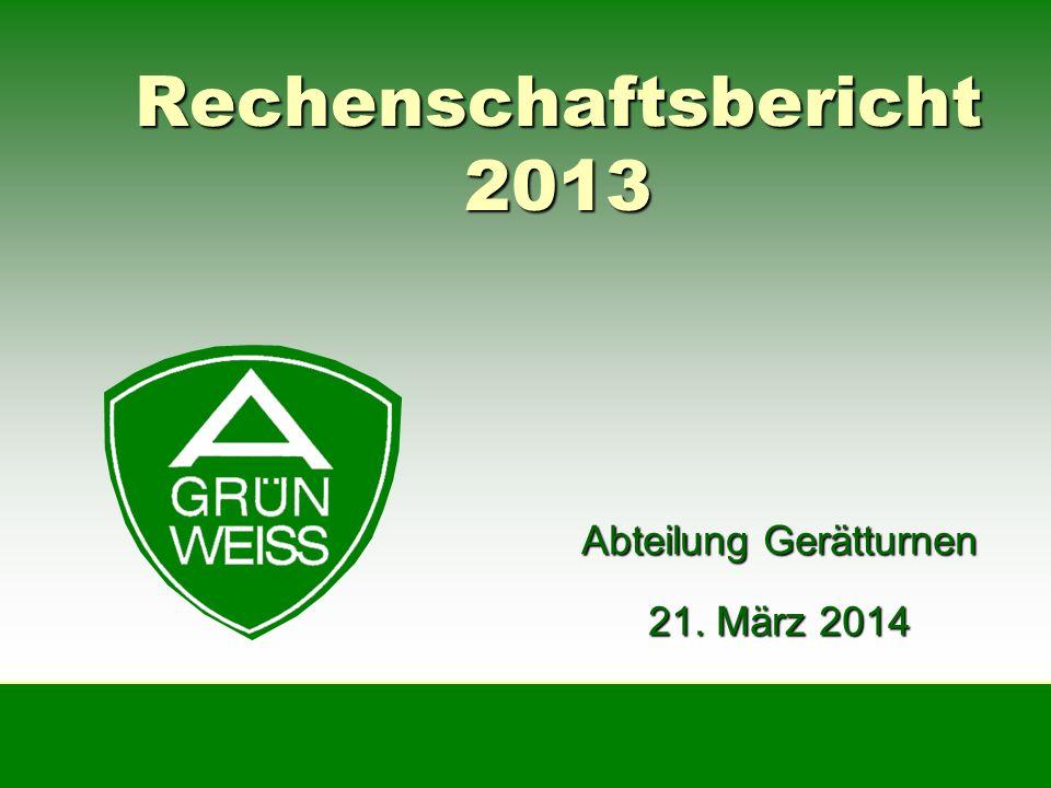 Rechenschaftsbericht 2013 Abteilung Gerätturnen 21. März 2014