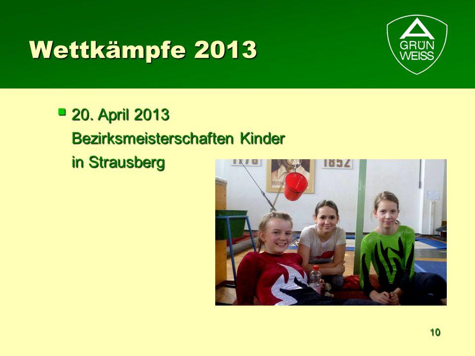 10 Wettkämpfe 2013 20. April 2013 Bezirksmeisterschaften Kinder in Strausberg 20. April 2013 Bezirksmeisterschaften Kinder in Strausberg