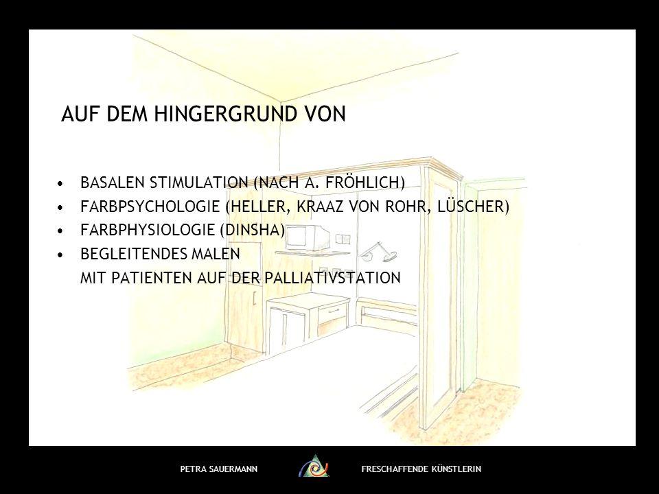 PETRA SAUERMANNFRESCHAFFENDE KÜNSTLERIN AUF DEM HINGERGRUND VON BASALEN STIMULATION (NACH A.