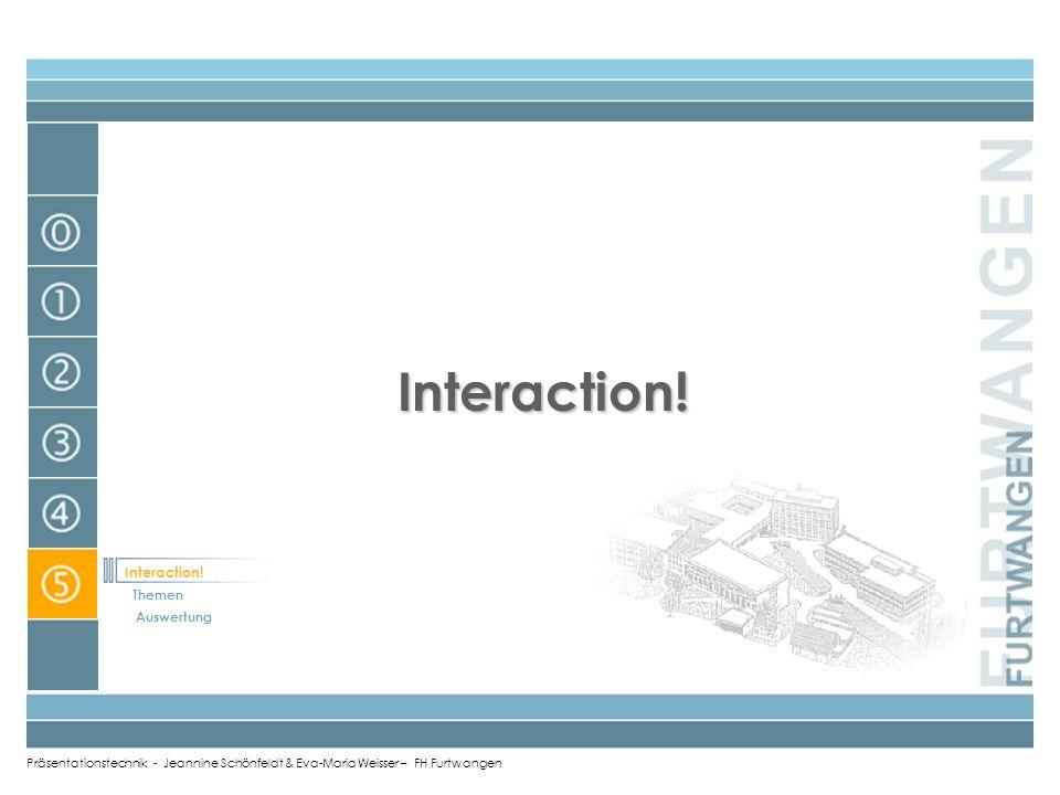 Präsentationstechnik - Jeannine Schönfeldt & Eva-Maria Weisser – FH Furtwangen Projektion EEyes (Blickkontakt) VVoice (Stimme, Aussprache) AAttitude (
