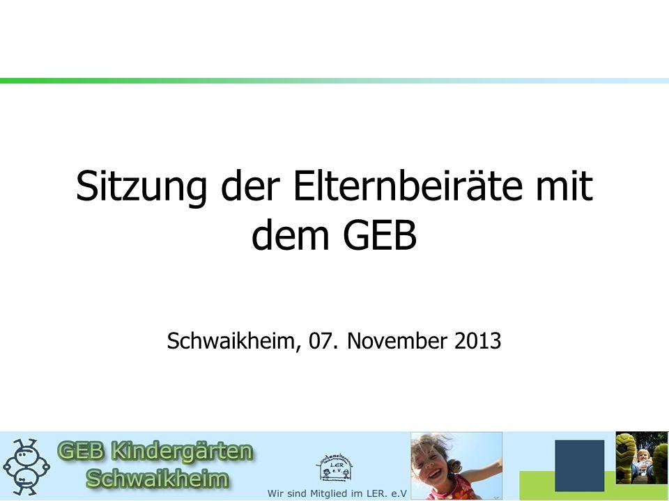 Sitzung der Elternbeiräte mit dem GEB Schwaikheim, 07. November 2013