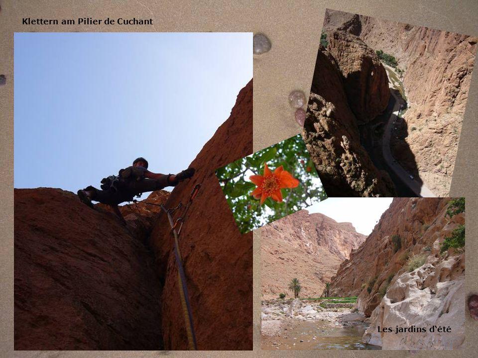 Klettern am Pilier de Cuchant Les jardins dété