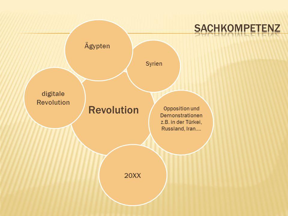 Revolution 20XX Opposition und Demonstrationen z.B. in der Türkei, Russland, Iran…. Syrien Ägyptendigitale Revolution
