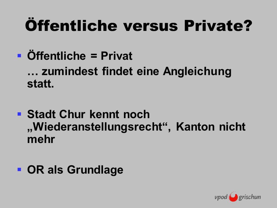 Öffentliche versus Private. Öffentliche = Privat … zumindest findet eine Angleichung statt.